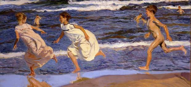 Joaquín Sorolla, Corriendo por la playa (Running along the Beach, Valencia, 1908)
