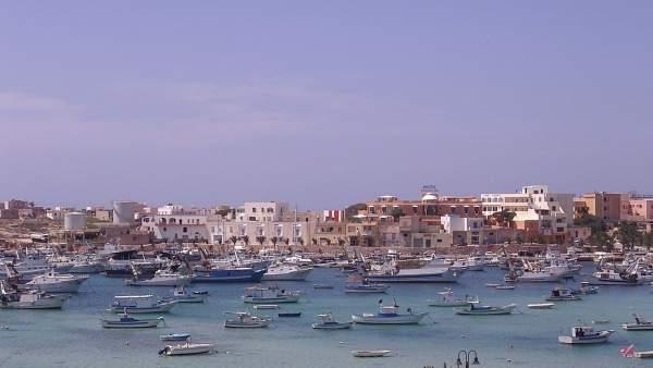 Puerto de Lampedusa