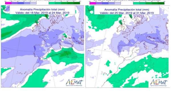 La Aemet no prevé lluvias en CyL hasta el mes de abril