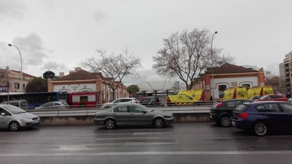 Sucesos.- Dos personas heridas leves por un pequeño fuego en el techo de un vagó