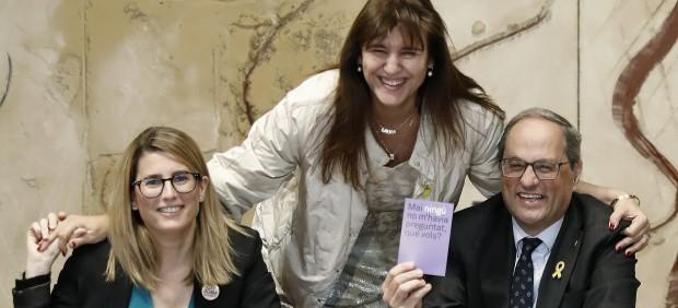 La Junta Electoral rechaza dar más tiempo a un Torra que se niega por segunda vez a quitar los ...