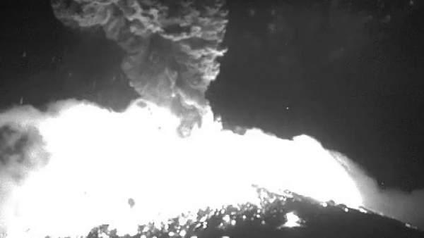 Explosión del Popocatepetl