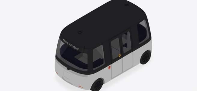 Minibús eléctrico y autónomo de la firma japonesa Muji.