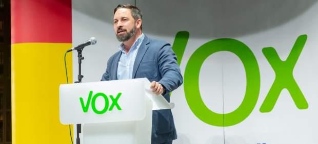 Santiago Abascal (Vox), en un acto del partido.