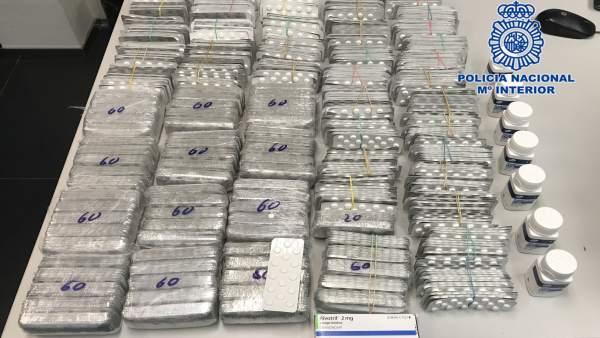 Sucesos.- Detenido en Cartagena con más de 24.000 comprimidos de Rivotril y Tran