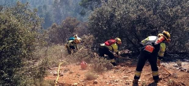 Incendios.- Estabilizado el incendio forestal declarado en Paterna del Madera (A