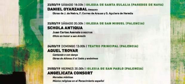 La I edición de 'Palencia Antiqua' recorrerá 700 años de música medieval y renac