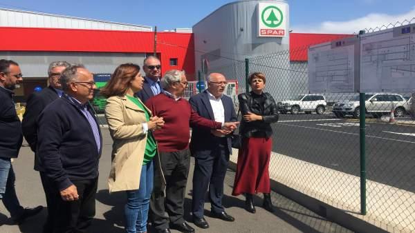 Las obras de mejora en el parque empresarial del Goro en Telde (Gran Canaria) bu