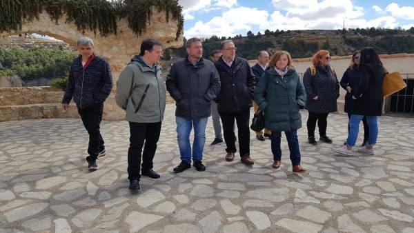 Soro visita Anento (Huesca) para conocer su evolución turística y las necesidade