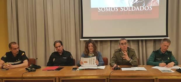 Continúan los preparativos del Ejercicio ECC Aragón 2019 de la UME que se desarr