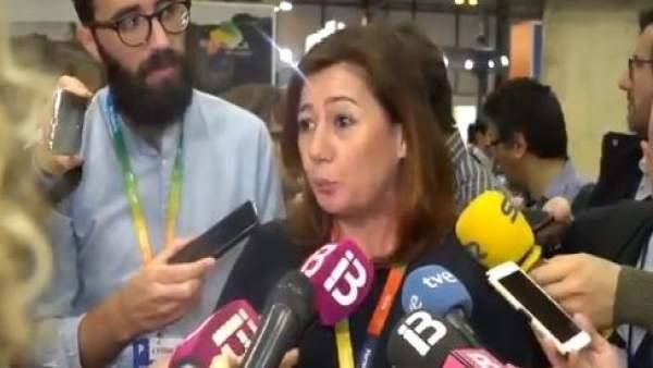 La presidenta del Govern, Francina Armengol, en Fitur