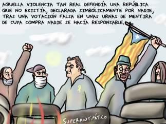 'Violencia real', viñeta de Superantipático.