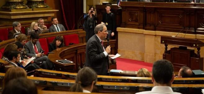 Quim Torra comparece en el Parlament