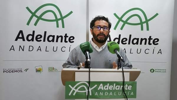 El parlamentario de Adelante Andalucía David Moscoso dejará el acta si se le imp