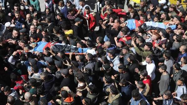 Funeral por jóvenes palestinos en Nablus