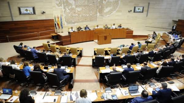 Hemiciclo durante un Pleno de la Asamblea