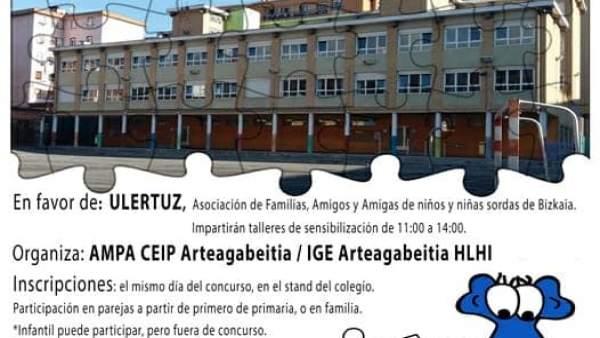 El II Concurso Solidario de Puzzles del colegio Arteagabeitia de Barakaldo recau