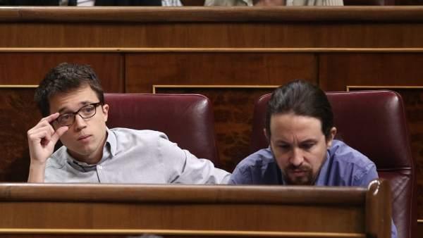 Irene Montero, Íñigo Errejón y Pablo Iglesias