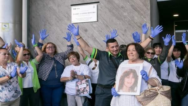 Rinden homenaje a Isabel Canino en el décimo aniversario de su asesinato
