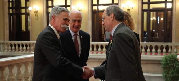 Quim Torra se reúne con el jefe de la F1 para la continuidad del GP de España... sin nombrar a ...