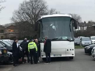 Autobús de aficionados del PSG interceptado