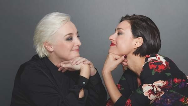 La actriz y dramaturga Susana Hornos y la directora Carolina Román.