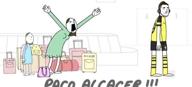 Animación sobre Paco Alcácer
