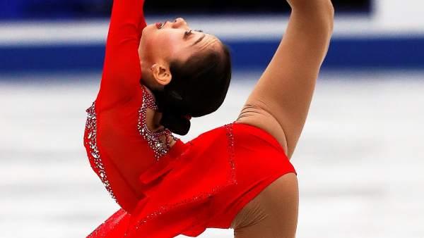 La patinadora Tursynbaeva