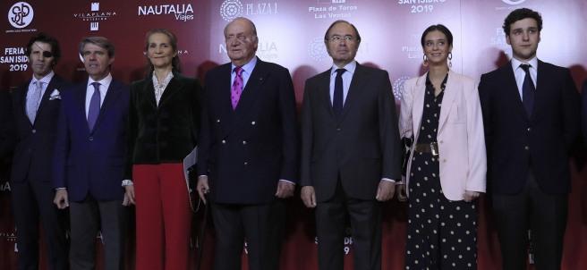 El rey Juan Carlos, la infanta Elena, Froilán y Victoria Federica