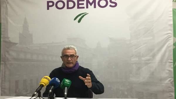 El diputado de Unidos Podemos por Jaén, Diego Cañamero.