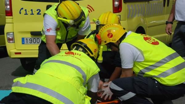 Sucesos.- Dos hombres resultan heridos al colisionar dos coches en Las Palmas de