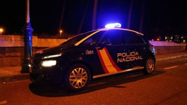 Coche de policía en Valencia.