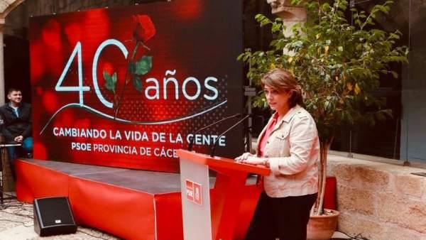 28A.- La Ministra De Justicia Insta A 'Movilizarse' Porque Las 'Urnas Llenas' Su