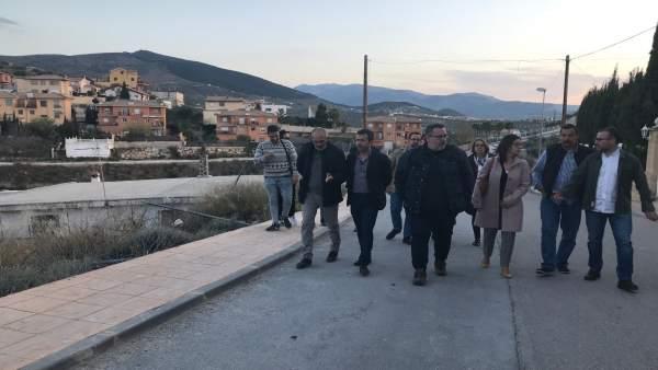 Jaén.- Millán (PSOE) apoya a vecinos de La Manseguidilla y apela a la seguridad