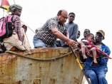 Afwctados por el ciclón Idai en Mozambique