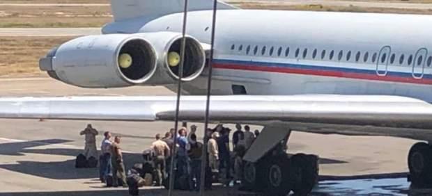 Aviones militares rusos en Venezuela