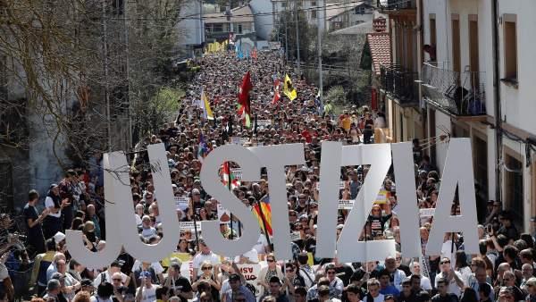 Manifestación contra la sentencia del caso Alsasua