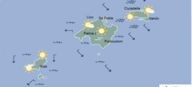 Predicción meteorológica para este lunes 25 de marzo en Baleares: cielo poco nuboso