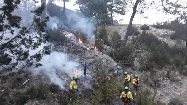 Jaén.- Sucesos.- Continúan los trabajos de remate y liquidación en el incendio d