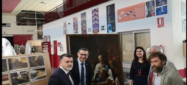 Cultura entrega a la UMU el cuadro del siglo XVIII 'Cristo y la Samaritana junto