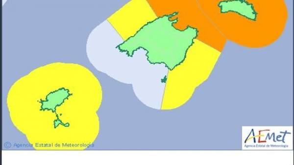 Activado el Índice de Gravedad 1 del Meteobal por fenómenos costeros en Mallorca