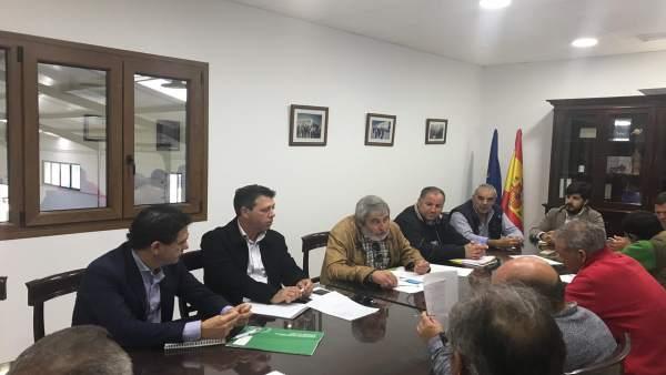 Cádiz.- El delegado de Agricultura sigue su ronda de reuniones con el sector agr