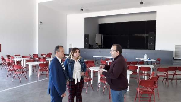 Zaragoza.- Sánchez Quero visita el nuevo espacio cultural de San Mateo de Gálleg