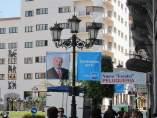Carteles De Propaganda Electoral Del PP En Oviedo