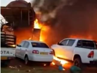 Se estrella un avión en Botsuana