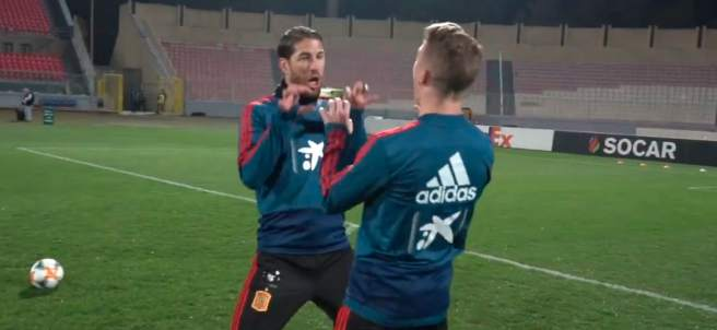 Sergio Ramos e Iker Muniain