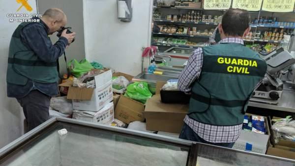 Zaragoza.- Sucesos.- Guardia Civil interviene una tonelada de productos alimenti