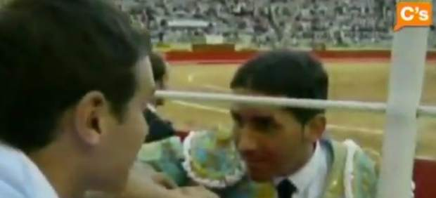 Albert Rivera con el torero Serafín Marín