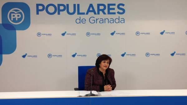 La popular Soledad Martínez en una rueda de prensa