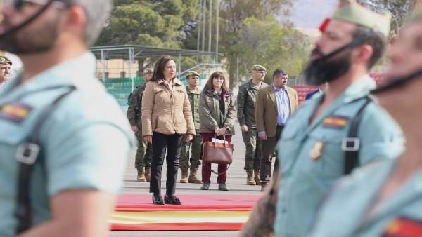 La ministra de Defensa, Margarita Robles, visita la base 'Álvarez de Sotomayor'